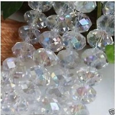 4X6MM white crystal stone beads95 stars A1