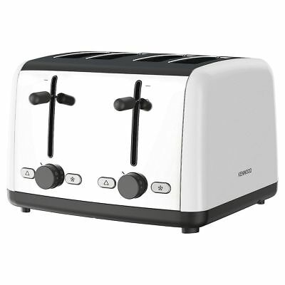 Kenwood TTM480WH 4 Slice Toaster White 1800W Adjustable Browning Control