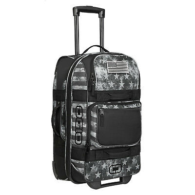 OGIO Layover Durable Carry On Suitcase Travel Luggage Bag with Wheels, Black Ops