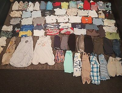 baby boys 3-6 months clothes bundle 77 items