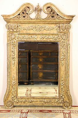 LARGE Luxury CHIPPENDALE gilded MIRROR ornate carved gold gilt frame Georgian