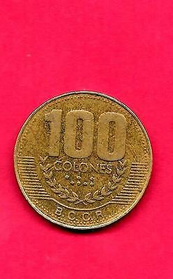 COSTA RICA KM230a.1 1999 VF-VERY FINE-NICE LARGE 100 COLONES COIN
