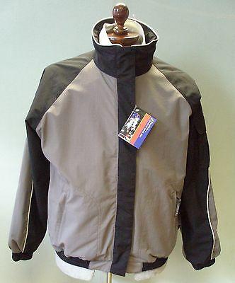 John Whitaker Mens Silver and Black Jacket Size Large