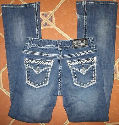 Rock & Roll Cowgirl Women Jeans Flap Slim Boot Low Rise 25 x 30.5