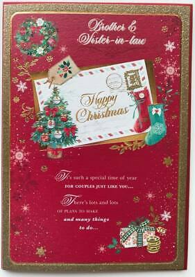 Brother And Sister In Law At Christmas Nice Verse Quality Xmas Greeting Card