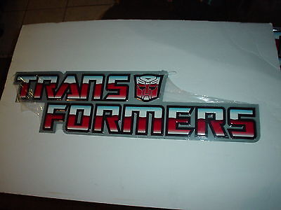 Large COLLECTIBLE TRANSFORMER METAL SIGN MAN CAVE  HOME DECOR LIMITED EDITION