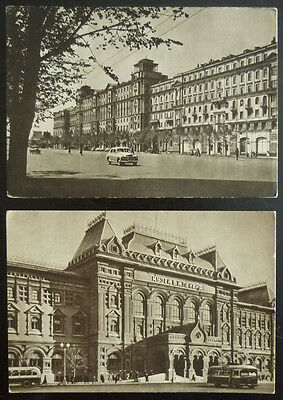 RUSSIA - 2 UNUSED POSTCARDS! russland rossia sssr moscow usa J2