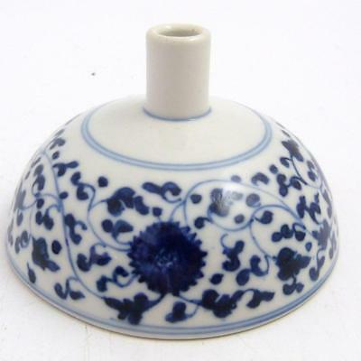 Chinese Blue And White Porcelain Bowl Cover / Funnel, 18Th Century