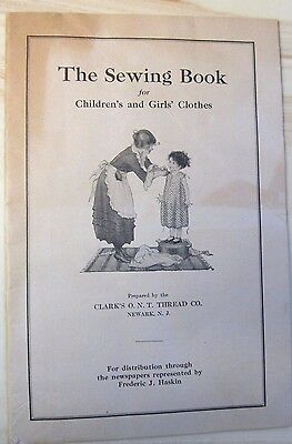 """Ca.1920s Clark's O.N.T. Thread Co. Book """" The Sewing Book """""""
