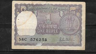 India #77Z 1980 Vg Circulated Rupee Old Banknote Paper Money Currency Bill Note