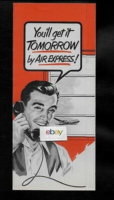 Rea Railway Express Agency 1950's You'll Get It Tomorrow By Air Express Brochure