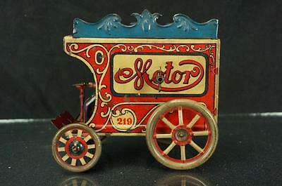 Vintage Orobr German Tin Horseless Motor Carriage 219 Wind Up Toy Rare Tin Toy