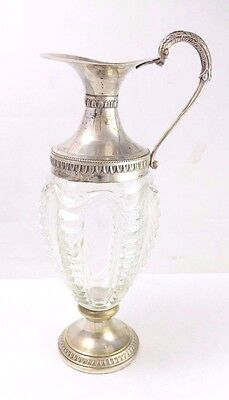Vintage Venetian Glass and Silver Plate Wine Decanter