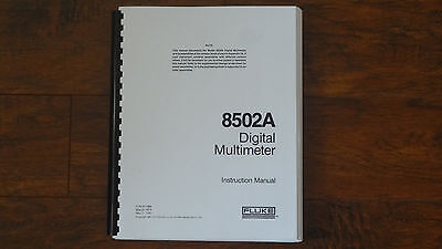 Fluke model 8502A Digital Multimeter manual