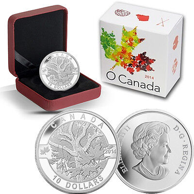 2014 O Canada 1/2 oz Silver $10 -  Down by the Old Maple Tree