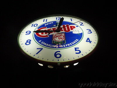 Vintage - Drink CHEER UP - a Sparkling Refresher - Soda BUBBLE CLOCK Works