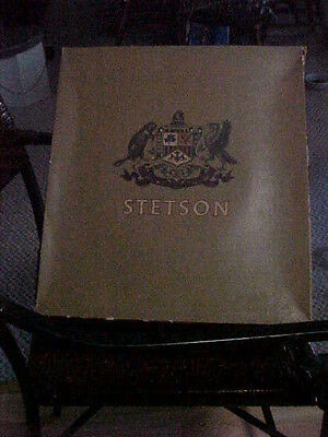 "Vintage Stetson Hat Box Only late 1950's or early1960's 15"" X 13 3/4"" X 6 1/2"""