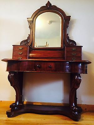 Rare Quality Antique Victorian mahogany Duchess dressing table / console