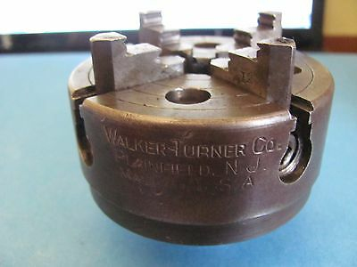 used Walker Turner 3 inches 4 Jaw lathe chuck