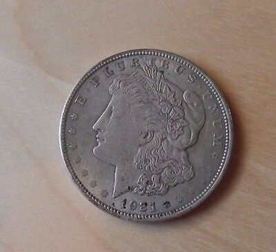 1921 Morgan Silver Dollar-circulated, condition as shown