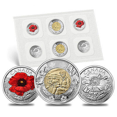 2015 Remembrance Coin Pack: In Flanders Fields and Poppy
