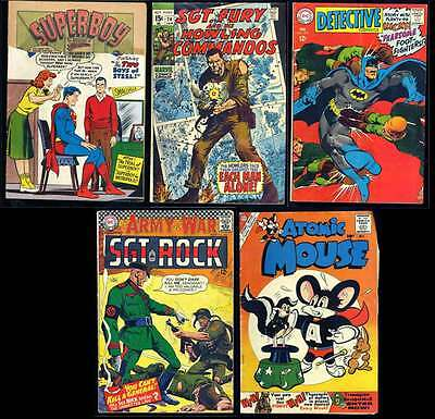 Lot Of 5 Vintage Silver Age Comic Books