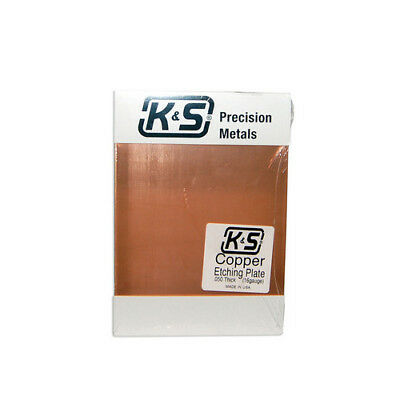 K & S Engineering Ks6602  Copper Etching Plate .050 / 16 Gauge Thick 5 Inch X...