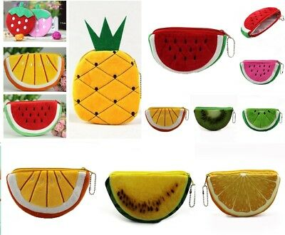 Girls Kids Fruit Candy Colour Coin Purse Casual Small Wallet Back To School Gift