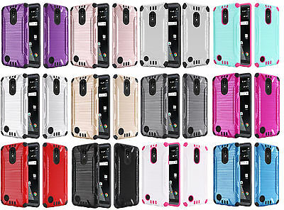 Combat Hybrid Case Phone Cover for LG Rebel 2 LTE L57BL L58VL