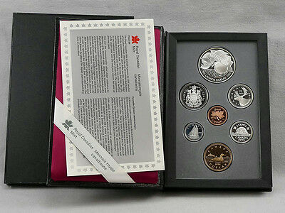 Canada 1996 Double Dollar McIntosh Proof Set! One IS Silver!