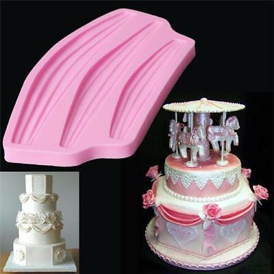 Cake Border Wedding Fondant Silicone Sugarcraft Decorating Mold Mould Tools - S