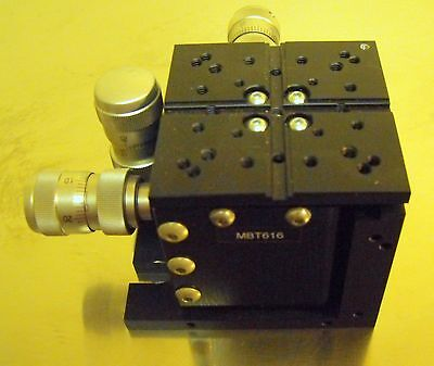 Nice Thorlabs 3-Axis MicroBlock Stage with Compact Differential Adjusters MBT616