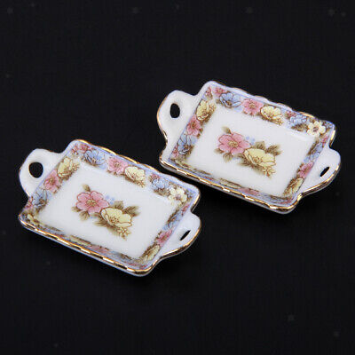 1/12 Dolls House Kitchen Miniature Ceramic Tea Coffee Wine Set Tableware Floral