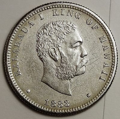 1883 Hawaiian Quarter.  High Grade.  108393
