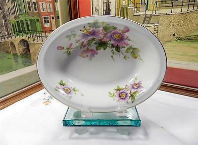 """Royal Doulton Signed Passion Flower H4833 10"""" Oval Vegetable Bowl 1942-1960"""