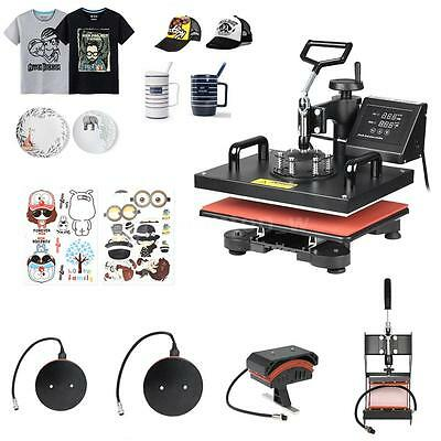 5 in 1 Heat Press Machine for T Shirts Hat Mug Plates Swing Away Transfer G5I5