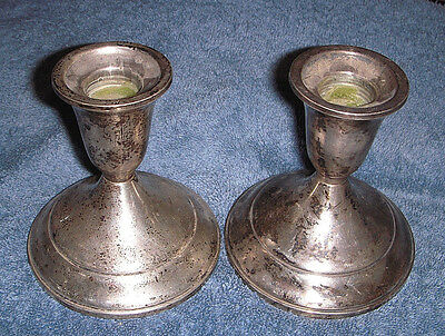 Towle Pair of Sterling Silver Weighted Candle Stick Holders #512 - Estate Sale
