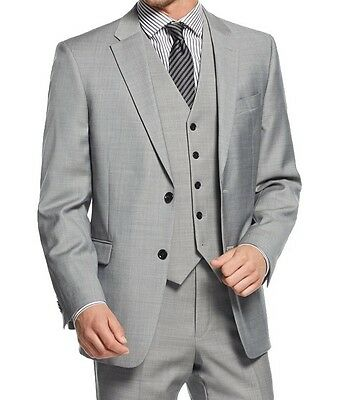 Tommy Hilfiger NEW Gray Mens Size 38 Long Two Button Wool Blazer $250- #117