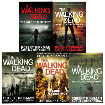 Walking Dead Series Jay Bonansinga Collection 5 Books Set Fall of the Governor