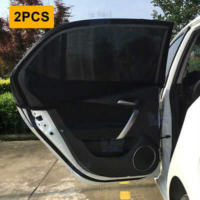 2Pcs Window Sun Shade Mesh Cover Baby UV Protector Shield Curtain for Car New