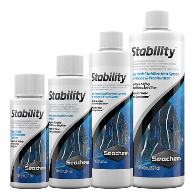Seachem Stability Aquarium Marine Freshwater Treatment Filter Start 50-500ml