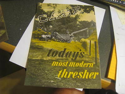 Vintage Case Todays Most Modern Thresher  advertising brochure