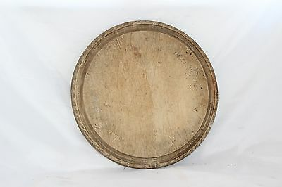 ROUND Vintage TRADITIONAL Large Wooden KITCHEN CHOPPING BOARD Wood HEAVY 27cms
