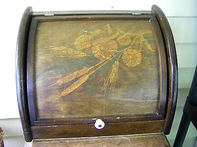 Vintage Retro Country Kitchen Wooden Lift Up Bread Box