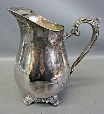 Vintage WM Rogers & Son Victorian Rose 1917 Silverplate Pitcher