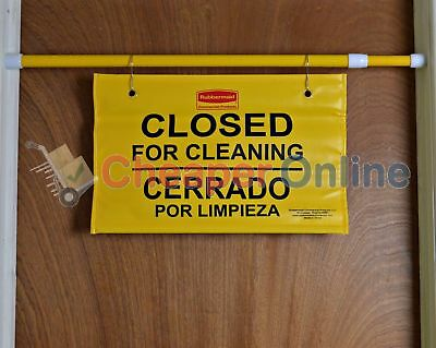 Rubbermaid High Visibility Doorway 'Closed For Cleaning' French,English,Spanish