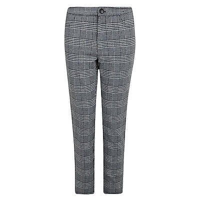 Ladies Trousers Grey Check Ex Uk Store Smart Formal Womens Trousers 6-20 New
