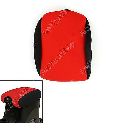 Red Neoprene Center Console Armrest Pad Cover For Jeep Wrangler With Logo 11-16