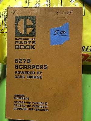Caterpillar Parts Book 627B Scrapers powered by 3306 engines