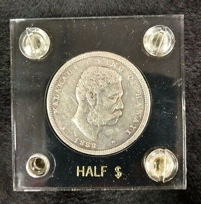 1883 Kingdom of Hawaii Silver Half Dollar